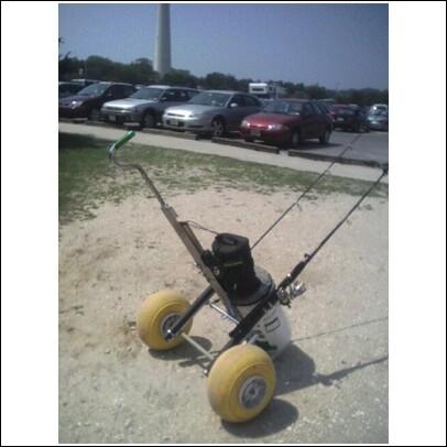 Homemade surf cart bing images for Homemade fishing cart