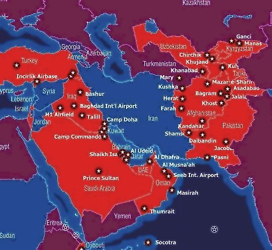 military bases iran